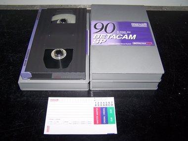 Maxell B-90ML BQ Betacam SP Broadcast Quality Video Cassette