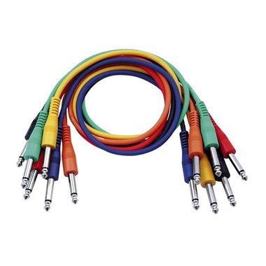 DAP  FL11 - 6 colored unbalanced jack mono patch cables 90CM