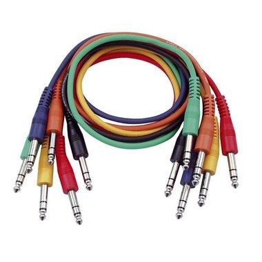 DAP  FL12 - 6 colored balanced jack patch cables 60CM
