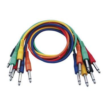 DAP  FL11 - 6 colored unbalanced jack mono patch cables 30CM