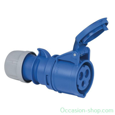 PCE CEE 16A 240V 3P powerplug female blue IP44