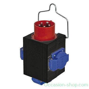 Showtec Powersplit 2 CEE 380V 16A in > 3 x Schuko power distributor