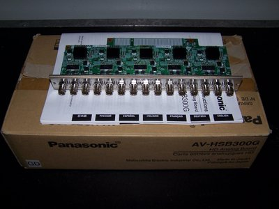 Panasonic AV-HSB300G HD Analog Option Board for the Multi-Format AV-HS300G Video Switcher