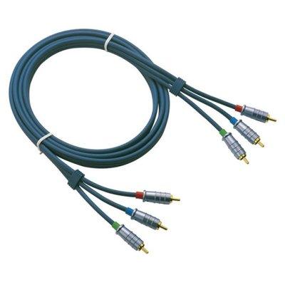 DMT FV04 - Ø6 mm. 3 RCA/M > 3 RCA/M 1,5 m Video cable