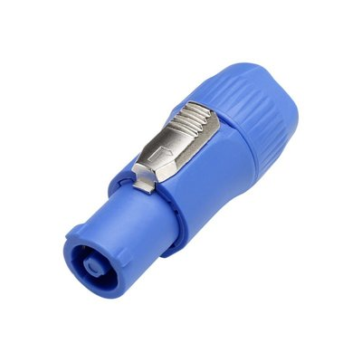 TRS Powercon Blue power-in connector lockable
