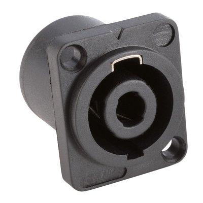 TRS 4P. Speakon speaker chassis female black