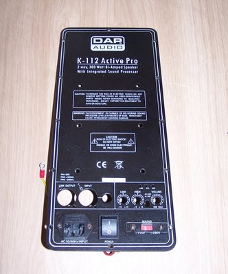 K-112A backpanel incl. powerconnection