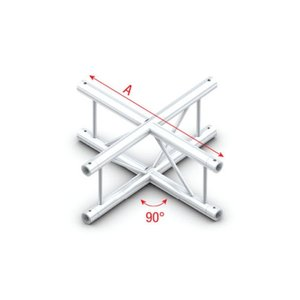 Milos FS30 Step truss F-016V Cross 4-way vertical