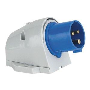 PCE CEE Form 32A 3 Pin Wallmount Male Blue housing