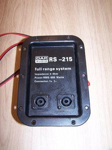 DAP RS-215 2-way crossover and connector panel
