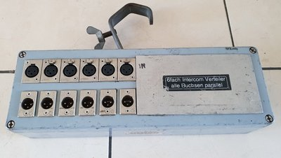 PRG 6-way intercom distributor parallel