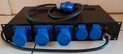 """19"""" Mains power strip 2U CEE 16A 240V / Schuko"""